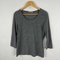 Regatta Womens Top 12 Grey 3/4 Sleeve Boat Neck Ribbed