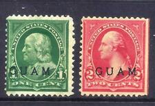 US Stamps - Guam #1-2 - MH/MNG - 1&2 cent Overprint Issues - CV $37