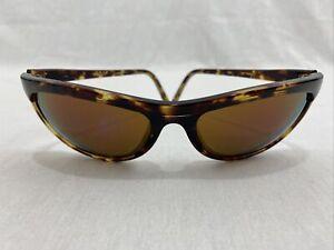 Revo 1001 Sunglasses Brown Tortoise Brown Lenses Blue Mirror Vintage