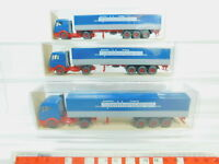 BO648-0,5# 3x Wiking H0/1:87 24515 Sattelzug Mercedes/MB Spedition, TOP+OVP