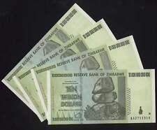 [#17698] - 4 x ZIMBABWE 10 TRILLION BANKNOTEs TRILLIONEN alle UNC