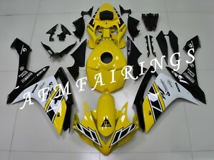 Yellow Black ABS Injection Mold Bodywork Fairing Kit Panel for YZF R1 2007 2008