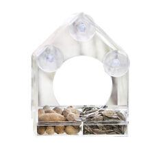 Clear Window Sliding Feed Tray Bird Feeder New Pet Acrylic Bird Feeder