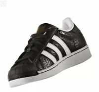 adidas Originals Superstar Reptile Boys Girls Trainers Black & White RRP £55