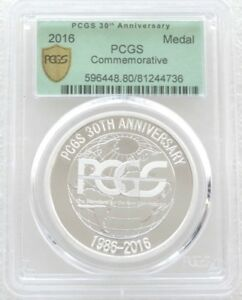2016 PCGS 30th Anniversary Commemorative Silver Proof Medal Green Label
