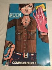 PULP Common People - rare 1995 PROMO COMIC BOOK by JAMIE HEWLETT of GORILLAZ