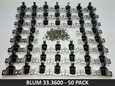 50 Pack Blum COMPACT 33 110° Screw-on Hinge - 25 pairs - 33.3600 - FREE SHIPPING