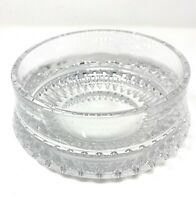"Gorham Lyric Heavy Clear Crystal Glass Serving Bowl 6""D"