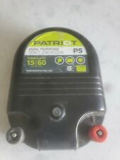 Patriot P5 Electric Fence Energizer With 12v Battery Connection Cable Tested
