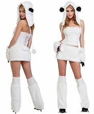 SEXY FURRY POLAR BEAR HALLOWEEN COSTUME WOMEN'S SIZE XS / S 2 - 6