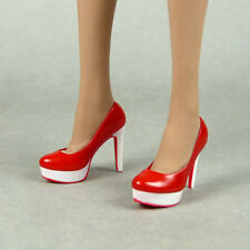 1/6 Scale Phicen SS, Magic Cube - Female Sexy Red White Glossy High Heels Shoes