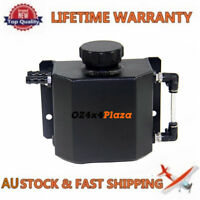 Universal 1L Aluminum Coolant Radiator Overflow Recovery Water Tank/Can Black
