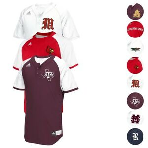 NCAA Adidas Men's Diamond King 2.0 Climalite Baseball Jersey Collection (S-2XL)