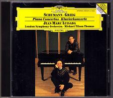 Jean-Marc LUISADA: GRIEG SCHUMANN Piano Concerto CD Michael Tilson THOMAS DG MTT
