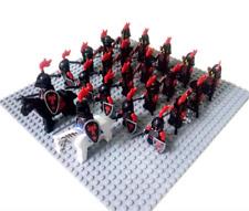 24Pcs DRAGOON Minifigures Castle Evil Red Hawk Knight Roman Cavalry Warrior Lego