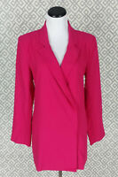 Gabrielle Union Double Breasted Pink Light Weight Long Blazer Suit Jacket Size L