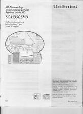 Bedienungsanleitung für Technics SC-HD505 MD in deutsch