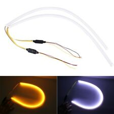 2 PCS 12V Car Daytime Running Lights Soft Article Lamp with Water Flowing Effect