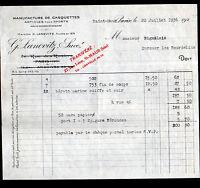 """SAINT-MAUR & PARIS (94 / IV°) USINE de CASQUETTES """"G. LANOVITZ"""" en 1936"""