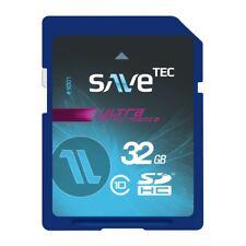 Speicherkarte 32 GB SDHC SaveTec Ultra UHS-1 32GB C10 bis zu 70MB/s Samsung Chip