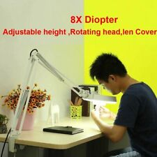 LED Lupenleuchte Lupenlampe Arbeitsleuchte Tischlampe 8 Dioptrien kompakt Klemme