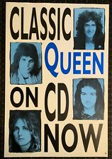 Queen 24x36original Hollywood Records cd catalog Usa promo poster 70's Glam 1991