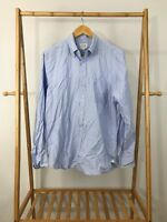 J. Crew Men's Long Sleeve Button Down Blue Shirt Size M