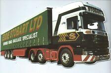 EDDIE STOBART LTD Truck Haulage shaped Postcard 2001 advert for book by H Davies