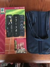 Outdoor Living Wine Caddy Tote Navy Outdoor Accessories NEW Zip Close NIB +++