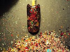 glitter mix acrylic gel nail art   OUTTER LIMITS