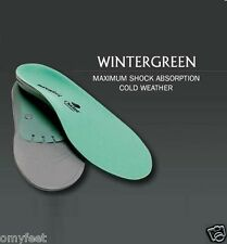 #B Superfeet WinterGreen Arch Support Cold Weather Insoles Men 3.5/5 Women 4.5/6