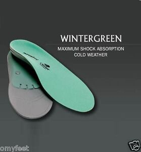 #D Superfeet WinterGreen Arch Support Cold Weather Insole Men 7.5/9 Women 8.5/10