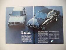 advertising Pubblicità 1984 BMW SERIE 3
