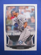 Very Rare 2013 Bowman Desmond Jennings Rays ERROR NNOF - SP - NO FOIL