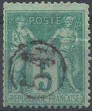 FRANCE SAGE N°75 - RARE ET SUPERBE OBLITÉRATION JOUR DE L'AN CACHET N°54 R