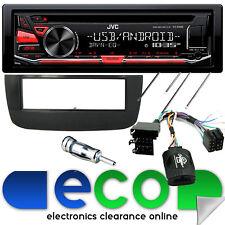 Fiat Punto EVO JVC AUTO STEREO CD MP3 USB y kit de montaje de interfaz de volante