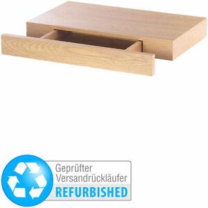 Wandregal mit versteckter Schublade, 40 x 5 x 25 cm, Versandrückläufer