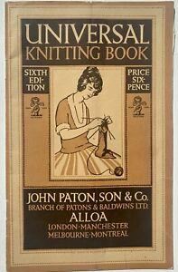 1920s vintage Knitting Book ladies gents baby children knitwear patterns crochet