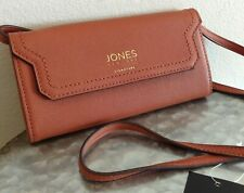 Jones New York ALLEGRA Crossbody Purse Wallet Brown Pebbled Faux Leather NWT $55