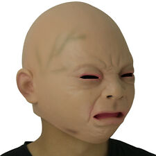 Creepy Cry Baby Full Head Face Latex Scary Mask Halloween Costume Latex Mask New