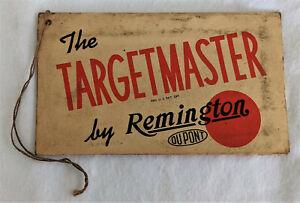 1940's Remington Targetmaster Model 510 Hang Tag & Instructions
