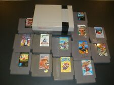NINTENDO NES-001 CONSOLE WITH 13 GAMES MARIO BASEBALL WRESTLING BUGS BUNNY READ