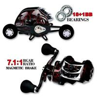 High Speed Bait Casting Fishing Reel 20 Ball Bearings Wheel 7:1:1 Lure Stai Q0V0