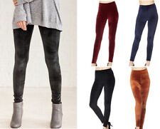 Women's Plush Velvet Warm Ankle Length Leggings Stretch Solid Colors Thick Soft