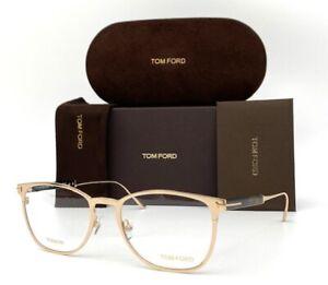 Tom Ford FT5483 028 Shiny Rose Gold  / Demo Lens  52mm Eyeglasses TF5483