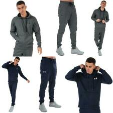 Mens Under Armour UA Rival Fleece Fitted Hoodie or Joggers in Blue, and Grey