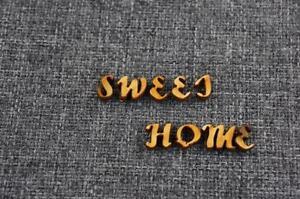 * 250+ Holz 1cm Buchstaben+Zahlen Klebend Alphabet Lernen Verschönerung /45/