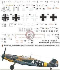 Peddinghaus 1/72 Bf 109 F-4 Markings Hans Schleef 7./JG 3 Russia 1942 2555