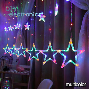 138LED Twinkling Star Fairy String Lights Curtain Window Wedding Party Decor A3G