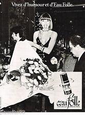 PUBLICITE ADVERTISING 065  1978  GUY LAROCHE  parfum EAU FOLLE